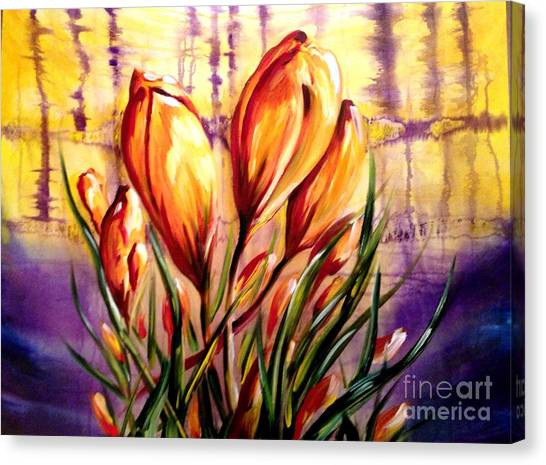 First Blooms Of Spring Canvas Print