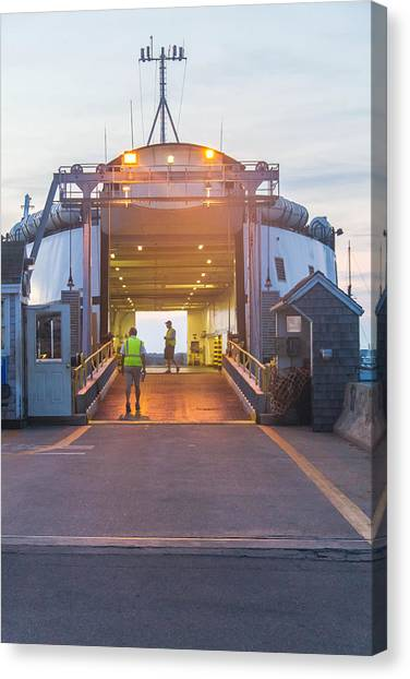 First Ferry Of The Day Canvas Print