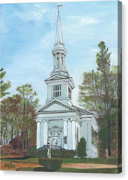 First Church Sandwich Ma Canvas Print