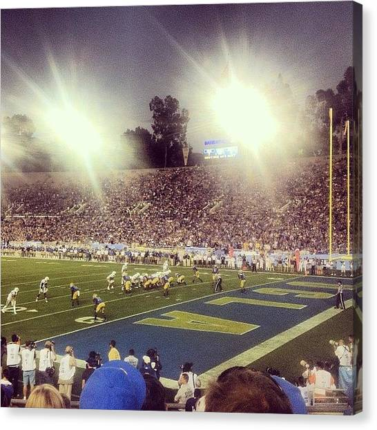 Ucla Canvas Print - First #collegefootball Game #ucla by Joshua White