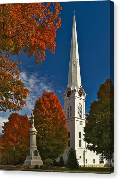 First Congregational Church Of Manchester Canvas Print