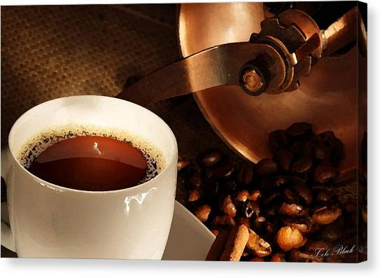 First Cup Of The Day Canvas Print by Cole Black