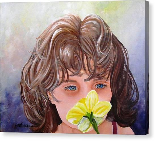 First Daffodil Canvas Print