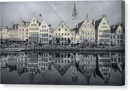 Gent Canvas Print - First Day Of Spring by Margit Lisa Roeder