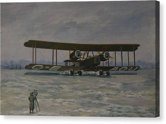 First England-australia Flight 1919 Canvas Print