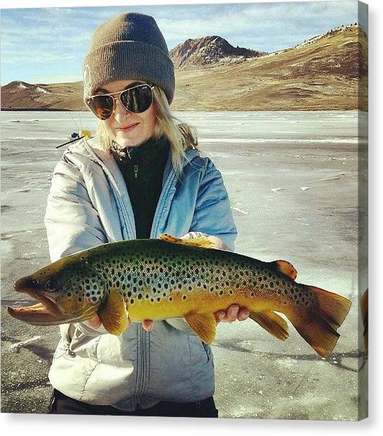 Trout Canvas Print - First Fish Of The Season by Brittany  Springer