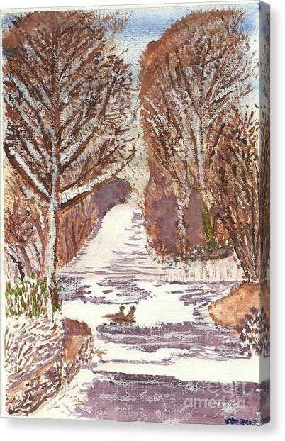 First Footprints Canvas Print