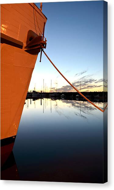 First Light Across The Bow Canvas Print