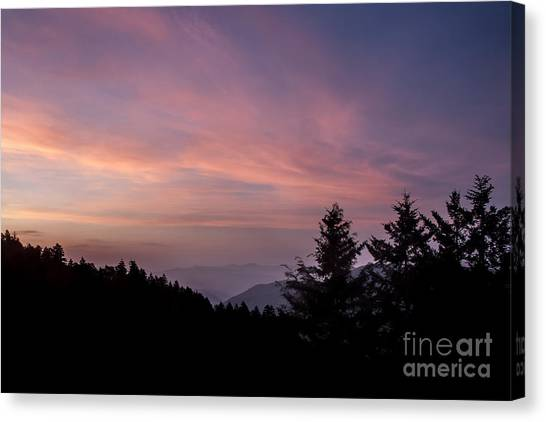 First Light At Newfound Gap Canvas Print by Ricky Smith