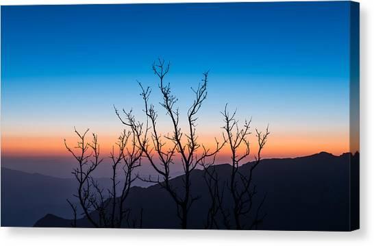 Desert Sunrises Canvas Print - First Light by Joseph Smith