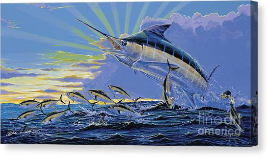 Tiger Sharks Canvas Print - First Light Off00101 by Carey Chen