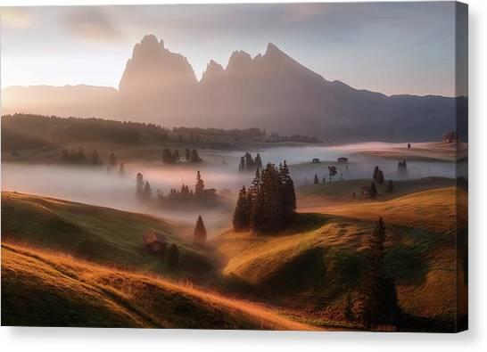 Dolomites Canvas Print - First Light by Richard Beresford Harris