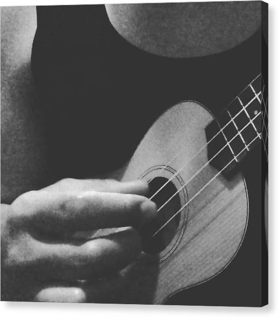 Ukuleles Canvas Print - First Of The Gang To Die - #morrissey by Aklili Zack