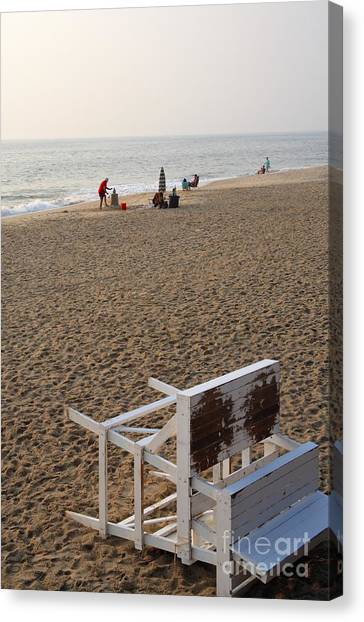 First On The Beach At Bethany Beach In Delaware Canvas Print