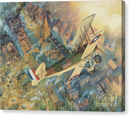 Bombs Canvas Print - First Over The Front by Randy Green