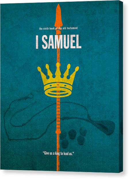 David Canvas Print - First Samuel Books Of The Bible Series Old Testament Minimal Poster Art Number 9 by Design Turnpike