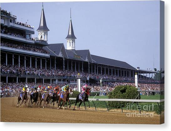 Kentucky Canvas Print - First Saturday In May - Fs000544 by Daniel Dempster