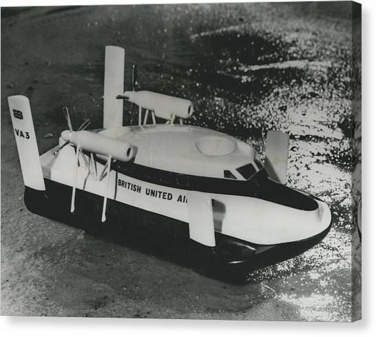 First Scheduled Hovercraft Service Planned For July Canvas Print by Retro Images Archive