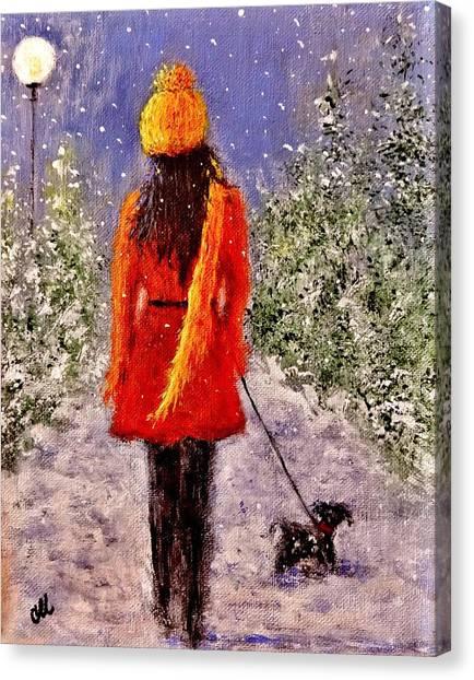 First Snow.. Canvas Print