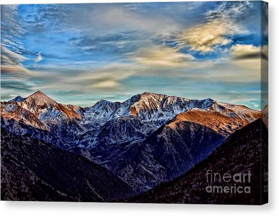 First Snow In The Mountains Canvas Print
