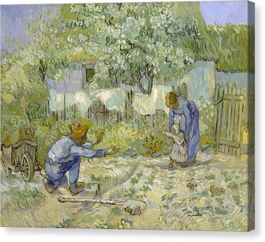 The Metropolitan Museum Of Art Canvas Print - First Steps - After Millet by Vincent van Gogh