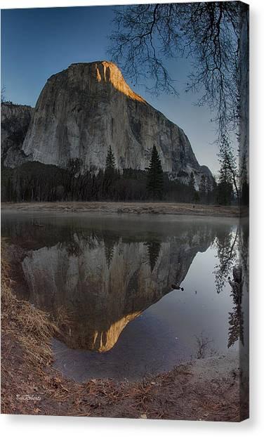El Capitan Canvas Print - First Sun On El Capitan by Bill Roberts