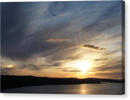 Firth Of Forth In The Sunset Canvas Print