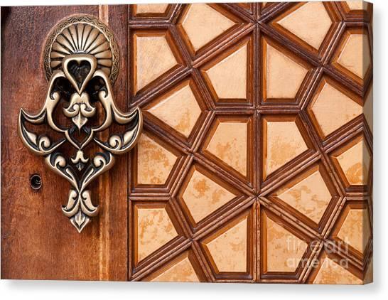 Firuz Aga Mosque Door 03 Canvas Print