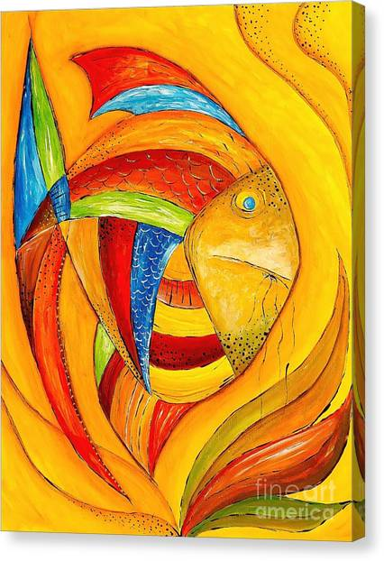 Fish 428-08-13 Marucii Canvas Print