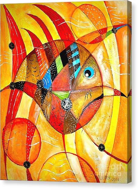 Fish 716-14 Marucii Canvas Print