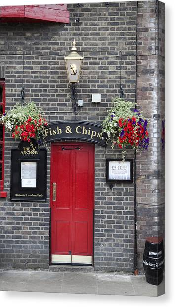 Fish And Chips Canvas Print by Nigel Jones