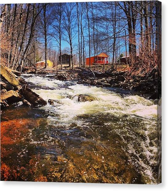 Kayaks Canvas Print - Fish Creek Cabin Resort #newyork by Daniel Piraino