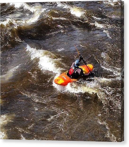 Kayaks Canvas Print - Fish Creek-taberg, New York #kayak by Daniel Piraino