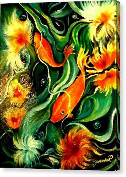 Fish Explosion Canvas Print