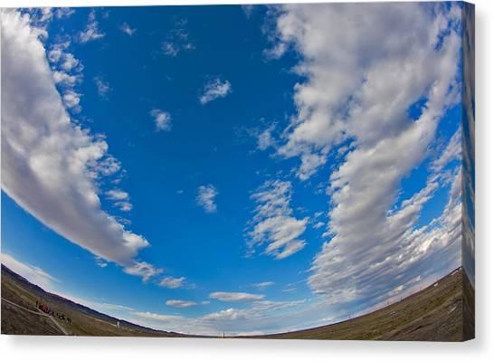 Fish-eye Sky Canvas Print by Jason KS Leung