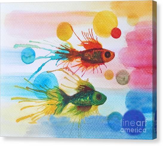 Fish Finale Canvas Print