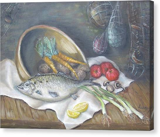 Fish For Dinner Canvas Print