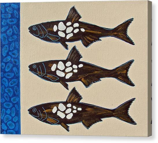 Fish Full Of Stones Canvas Print