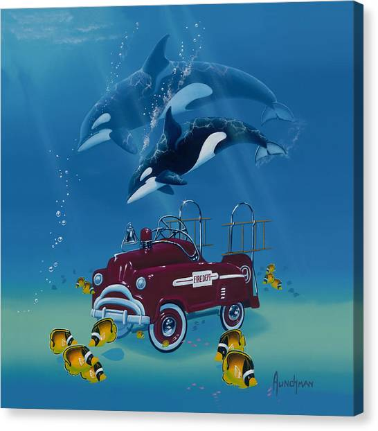 Fish Hook  Ladder Canvas Print