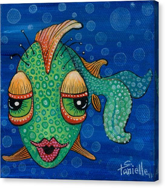 Fish Lips Canvas Print