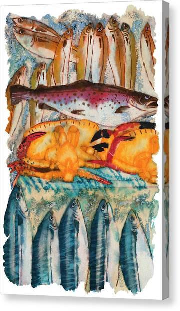 Fish Market Canvas Print by Tess Stone