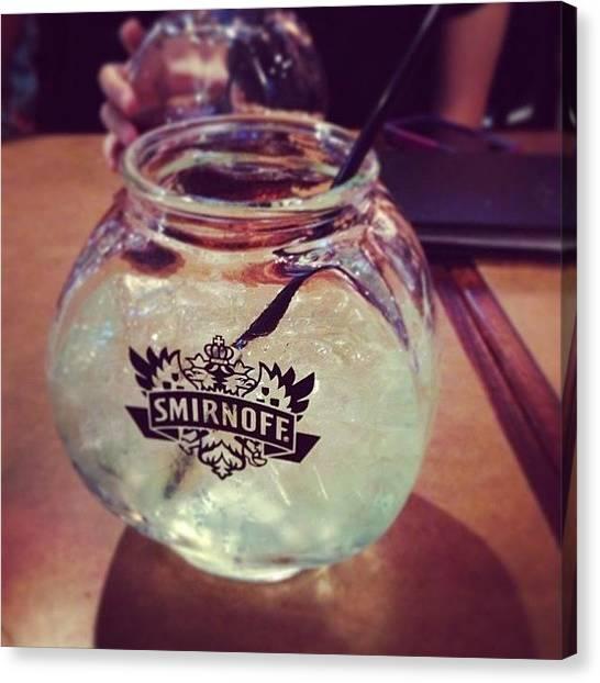 Vodka Canvas Print - Fishbowl Fridays by Laura Saydak