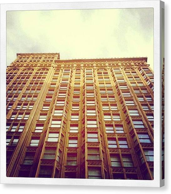 Fish Canvas Print - Fisher Building by Jill Tuinier