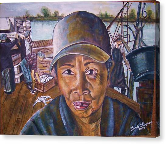 Fisher Woman Canvas Print by Linda Vaughon