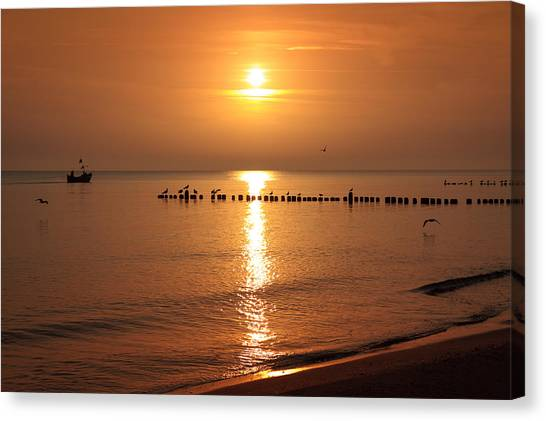 Robert Frank Canvas Print - Fisherman At Sunrise by Robert Frank
