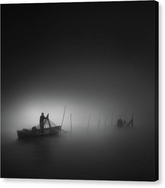 Nets Canvas Print - Fisherman by Christoph Hessel