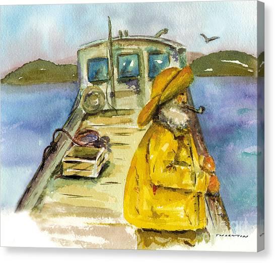 Fisherman Half Moon Bay Canvas Print