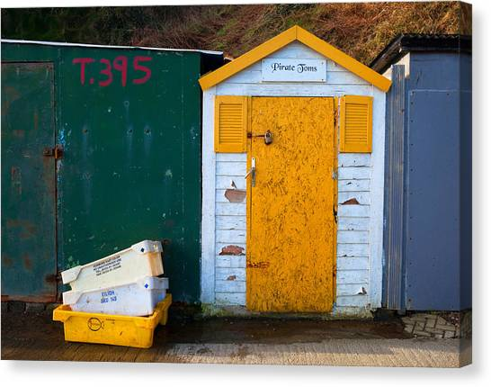 Waterford Canvas Print - Fisherman Hut At The Harbour, Tramore by Panoramic Images