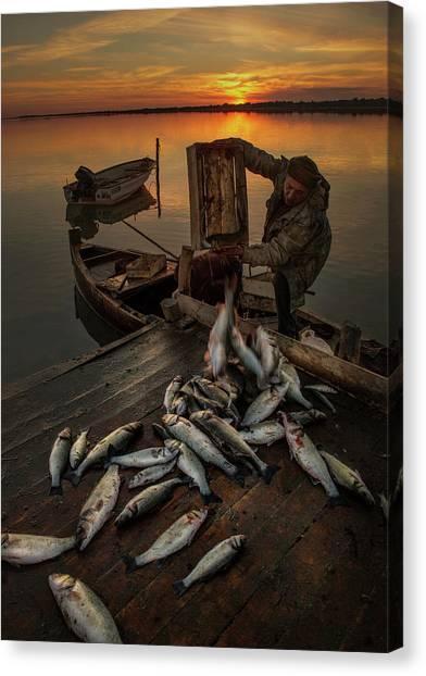 Fisherman Canvas Print by Tuncay Dogruluk