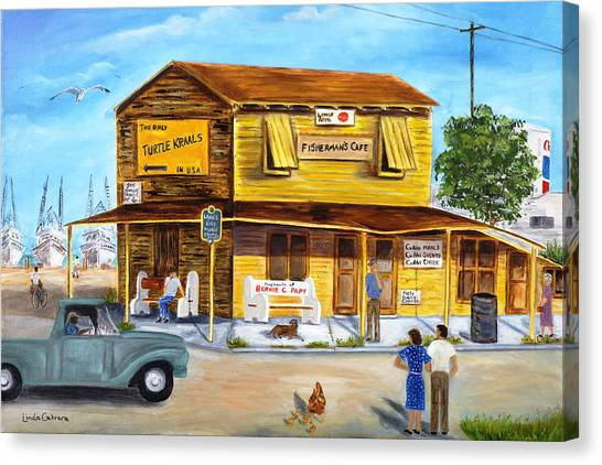 Fisherman's Cafe Canvas Print